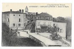 CREVANT-LAVEINE   (cpa 63)  Avenue De L'église  Hôtel Rodier-Mondon   -  L 1 - Andere Gemeenten