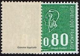 France Marianne De Béquet N° 1893 B ** Variété Le 80c Vert Gomme Tropicale - 1971-76 Marianne Of Béquet