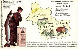 Thematiques 41 Loir Et Cher Carte Departement Pub Emulsion Scott - Other Municipalities