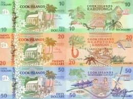 COOK ISLANDS Set (3v) 10 20 50 Dollars ND (1992) P 8 9 10 UNC - Cook Islands