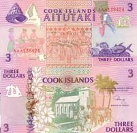 COOK ISLANDS 3 Dollars ND (1992) P 7 UNC - Cook Islands