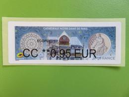 France - Lisa - Vignette Illustrée - Cathédrale Notre Dame De Paris - 2020 - CC 0.95 € Ecopli - Neuf - 2010-... Viñetas De Franqueo Illustradas