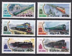 Md_ Nord Korea 1989 - Mi.Nr. 3064 - 3069 - Postfrisch  MNH - Eisenbahn Railways Lokomotiven Locomotives - Trains