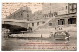 Paris - Messagerie Fluviales De France - Le Havre - Chaland Auto Moteur A Propulseur Amovible  -  CPA° - El Sena Y Sus Bordes