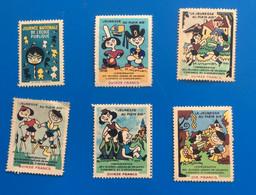 ⭐⭐ 6 Vignettes La Jeunesse Au Plein Air 1952/54/57/58 Journée Nationale Ecole Publique 1955 -Erinnophilie,stamp,Timbre - Andere