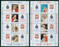 Vaticano 2004 - Polonia Emissione Congiunta/Joint 2 Foglietti - S/S **/MNH VF - Ongebruikt