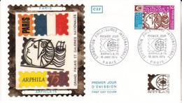 1er Jour Fdc N°1783 Arphila 75 Exposition Philatélique Internationale 19 Janvier 1974 Paris - 1970-1979