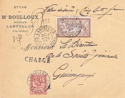 Devant De VD Lanvollon Pour Société Générale Guingamp 7 Avril 1904 Sans Descriptif - 1877-1920: Semi-Moderne