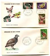 RC 19059 COTE D'IVOIRE SÉRIE OISEAUX BIRDS 1966 FDC 1er JOUR - TB - Other