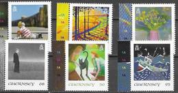 GUERNSEY, 2020, MNH, ART, SEPAC, FISH, BOATS, FISHING BOATS, CATS, FLOWERS,6v - Sonstige