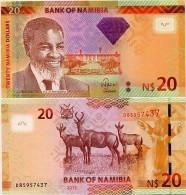 NAMIBIA       20 Dollars       P-12b       2013       UNC - Namibië