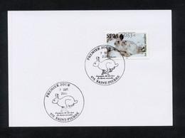 """SPM - SUR CARTON 1ER JOUR -TIMBRE N°855 DE 2005 """" LE LIEVRE VARIABLE """" CACHET 1ER JOUR SAINT-PIERRE 7/09/2005 - ETAT** - FDC"""