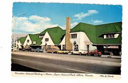 JASPER, Alberta, Canada, CNR Railway Station / Depot, Old Ford Mustang, MGB, 1988 4X6 Chrome Postcard - Jasper