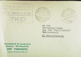 """Fern-Brf Mit ZKD-Kastenst """"Kreisbetrieb Für Landtechnik 8291 Panschwitz-Kuckau"""" 1.2.66 An VEB Fortschritt Bischofswerda - Dienstpost"""