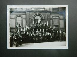 Mairie Scy Chazelles (Metz Moselle) Libération Fin Première Guerre Mondiale ? Drapeaux Souvenir Français. - Krieg, Militär