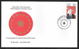 Cyprus (Turkish Posts) 200 Visit Of Turkey President Illustrated FDC - Storia Postale