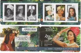 POLYNESIE. CARNET MISS TAHITI HIER ET AUJOURD'HUI (1968/2018) Miss France 2019 VOIR DESCRIPTION. SCAN RECTO/VERSO - Cuadernillos/libretas