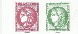 CERES DE BORDEAUX 1870 2020 PAIRE DU CARNET SALON D'AUTOMNE - 1870 Bordeaux Printing