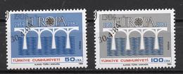 Turquie - Türkei - Turkey 1984 Y&T N°2425 à 2426 - Michel N°2667 à 2668 (o) - EUROPA - Usati