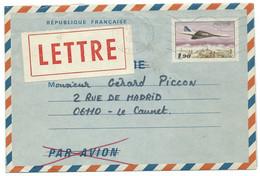 AEROGRAMME  / LE CANNET ROCHEVILLE POUR LE CANNET 1985 / CONCORDE 1f90 - Airmail Stationery