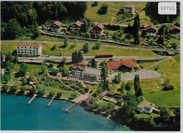 Flugaufnahme Strandhotel-Restaurant Hermitage - Luzern-Seeburg - LU Lucerne