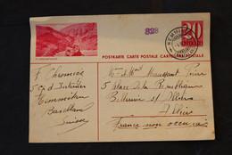 ** - Entier Postal 20 Centimes - Furkapass, Affranchi De Hemmiken En 1941 - Stamped Stationery