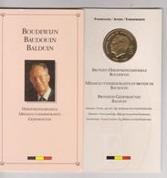 BELGIQUE - MEDAILLE COMMEMORATIVE  1930-1993 En ARGENT  A LA MEMOIRE DU ROI BAUDOUIN Ier - Medals