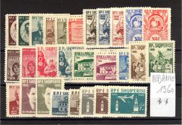 Albanie 1960: N° 516/40 + PA54/6 / Année 1960 Complète Neuve ** / TB - Albania