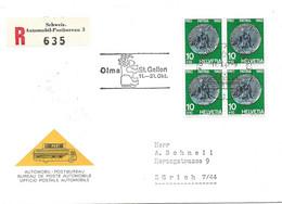 """66 - 31 - Enveloppe Recommandée Avec Oblit Spéciale """"OLMA St Gallen 1962"""" - Marcofilie"""