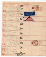 1937. FRANCE, PARIS, POSTAL SERVICE DOCUMENT FROM YUGOSLAV EMBASSY IN PARIS, RECORDED, PAR AVION, REMBOURSEMENT LABELS - Documents Of Postal Services