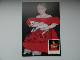 CARTE MAXIMUM CARD AMMI PHILLIPS GIRL IN RED DRESS WHIT CAT AN DOG ETATS UNIS - Autres