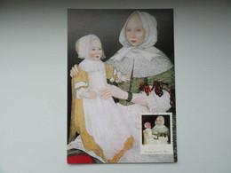 CARTE MAXIMUM CARD THE FRANKE LIMNER MRS.ELISABETH FREAKE AND BABY MARY ETATS UNIS - Autres