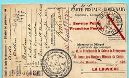 Relais/sterstempel RECKEM (VL) / RECKEM (FL) 08/02/1914 Op Postkaart - Cachets à étoiles