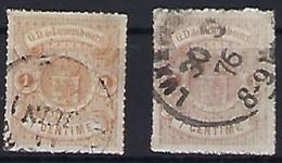 Luxembourg - Luxemburg - Timbres 1865  2x Michel 16 A+b °  VC 55,-  -  2 Scans - Blocchi & Foglietti