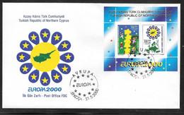 Cyprus (Turkish Posts) 2000 Europa CEPT Miniature Sheet Illustrated FDC - Storia Postale