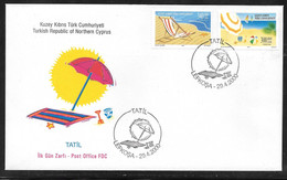 Cyprus (Turkish Posts) 2000 Holidays Illustrated FDC - Storia Postale