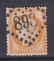 France N° 38 : Oblitéré 898 GROS CHIFFRES - 1870 Siège De Paris