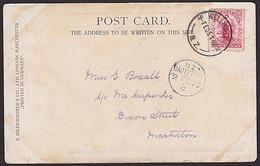 NEW ZEALAND 1905 Postcard WELLINGTON - MASTERTON (A-CLASS) - Briefe U. Dokumente