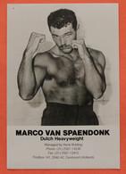 BOXE :  Marco Van Spaendonk - Pugilato