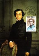 Carte Maximum YT 3780 Alexis De Tocqueville, TBE 1er Jour 23 04 2005 Paris (75) - 2000-09