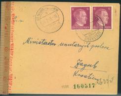 """1945, OSTMARK, Brief Ab """"ST. MARIEN über EISENSTADT 4.2.45"""" Nach Zagreb - Briefe U. Dokumente"""
