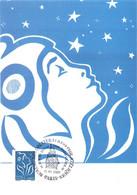 Carte Maximum YT 3807 Marianne De Lamouche Bleu 0,55, TBE Obl. Spé 15 11 2005 Paris (75) - 2000-09