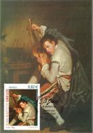 Carte Maximum YT 3835 Le Guitariste De Jean-Baptiste GREUZE, TBE 1er Jour 24 09 2005 Tournus (71) - 2000-09