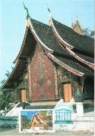 Carte Maximum Timbre De Service 135 UNESCO Temple De La Cité D'Or à Luang Prabang, TBE 1er Jour 07 12 2006 Paris (75) - 2000-09