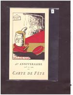 25ème ANNIVERSAIRE DE LA SOCIETE D'ETUDIANTS VALDESIA 1915-1940 - CARTE DE FETE AVEC PROGRAMME - Altri