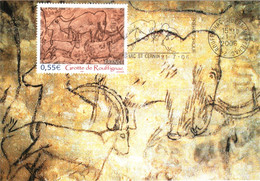 Carte Maximum YT 3905 Grotte De Rouffignac TBE Flamme Illustrée 21 07 2006 Rouffignac-St-Sernin (24) - 2000-09