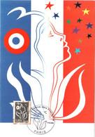 Carte Maximum YT 3925 Marianne De Lamouche 5€ En Argent TBE 1er Jour 17 06 2006 Paris (75) - 2000-09