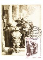 Carte Maximum YT 3984 Mendiants De Rembrandt TBE 1er Jour 10 11 2006 Paris (75) - 2000-09