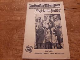1939 Germany Die Deutsche Arbeitsfront Kraft Durch Freude Chemnitz VW Käfer Hitler - Alemán