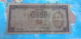 TIMOR 100 ESCUDOS 1959 P 24a USED - Timor
